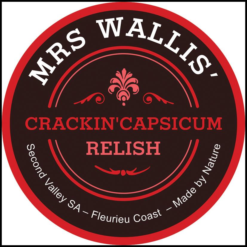 Crackin' Capsicum Relish Label